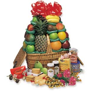 Good Cheer Gourmet Fruit Basket  Hampers
