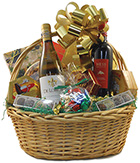 Best of Both Worlds Deluxe Wine Basket