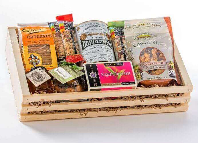 Organic tea christmas gift baskets